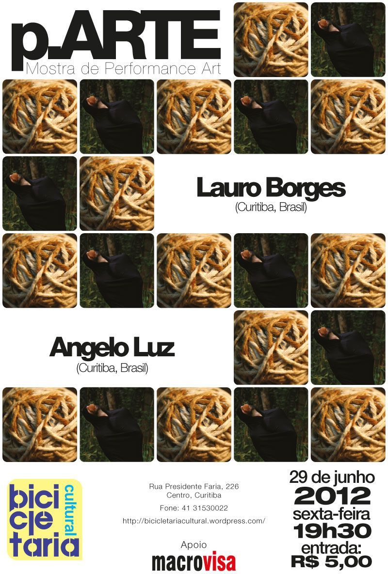 Poster of 2nd p.ARTE edition, june 2012.